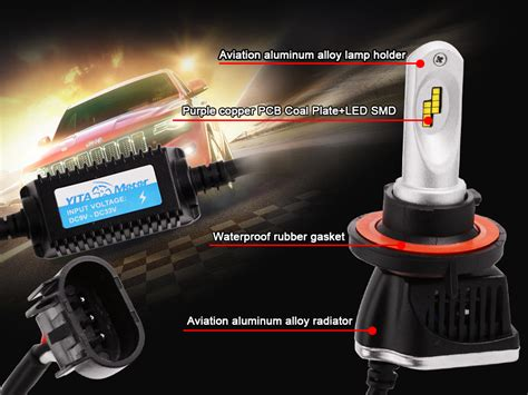 Led Hid Motor yita 2x h13 160w led headlight bulbs high power low beam