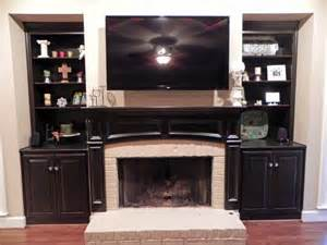 Fireplace Mantel And Bookshelves Bookcases And Fireplace Mantels