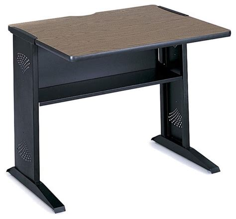 computer desk 36 inches wide safco 36 inch width reversible top computer desk modern