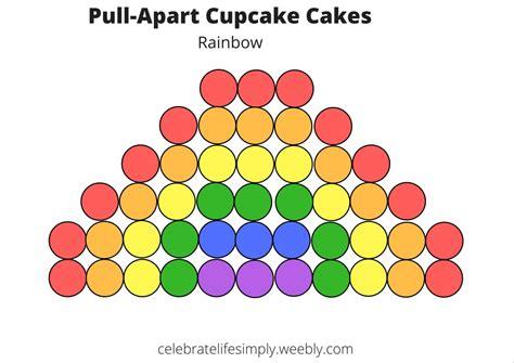 pull apart cupcake cake templates celebrate simply