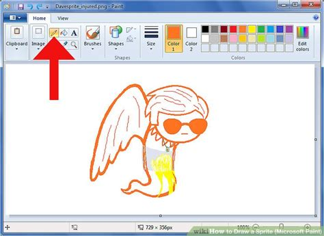 how to draw a sprite microsoft paint 6 steps with pictures