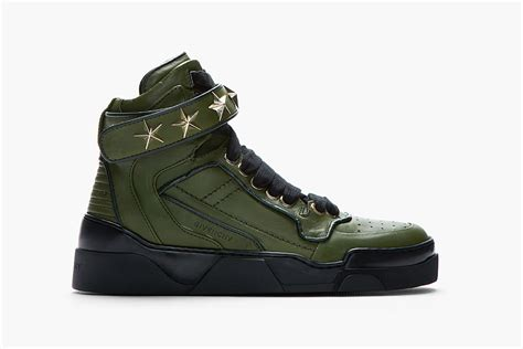 army green sneakers givenchy army green leather detail sneaker hypebeast