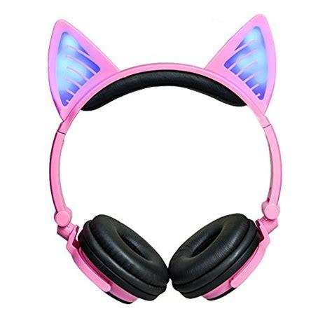 cat ear headphones dicekoo wireless bluetooth headset