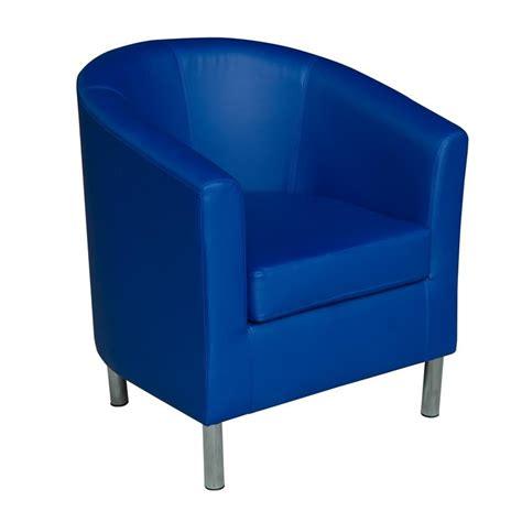 blue barrel chair homcom modern pu leather tub barrel club arm seat chair