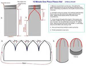 fleece hat template the world s catalog of ideas