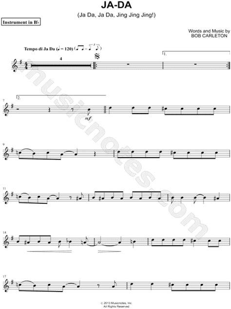 bob carleton ja da ja da ja da jing jing jing bob carleton quot ja da bb instrument quot sheet trumpet