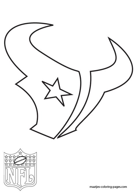 Houston Texans Coloring Pages Nfl Logo Coloring Pages
