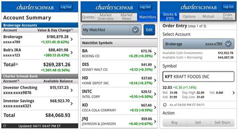 schwab bank phone charles schwab ask chuck mobile banking app now available