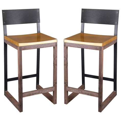 Gotham Furniture by Gotham Stools Customizable Metal Wood And Resin For Sale