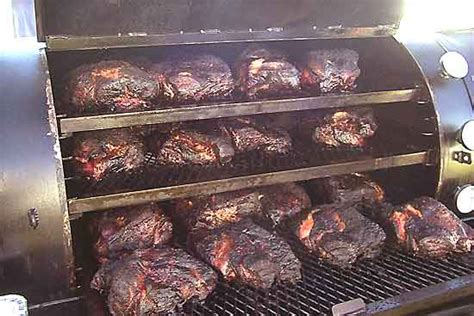 pit bbq on smokers smoked brisket and bbq