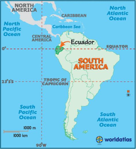 ecuador map geography of ecuador map of ecuador