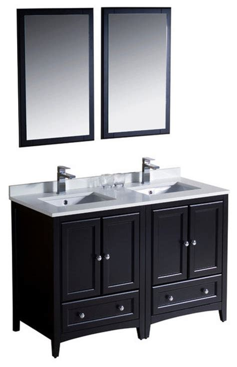 48 bathroom vanity double sink 48 inch double sink bathroom vanity espresso transitional