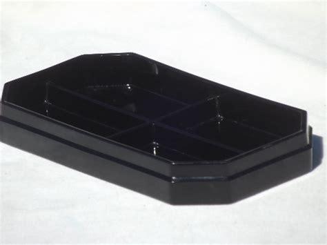 retro desk accessories black glass desk tray ashtray deco vintage