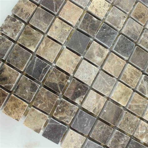Brown Pattern Tiles | stone mosaic tile square brown pattern washroom wall
