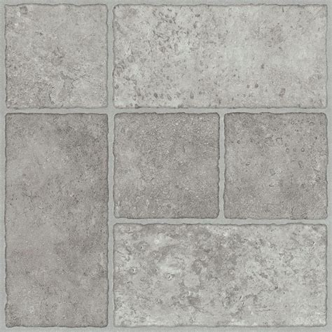 Set Tile Stick Hime trafficmaster grey resilient vinyl tile