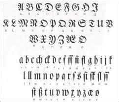 lettere particolari galeria tatuazy alfabet styl gotycki
