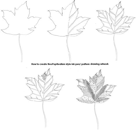 leaves pattern sketch diy fall leaves tutorial heres a tutorial for how to make