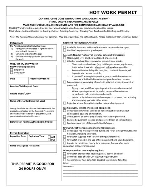 work permit template in word and pdf formats