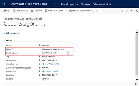Word Vorlagen Die Neuen Word Vorlagen In Dynamics Crm 2016