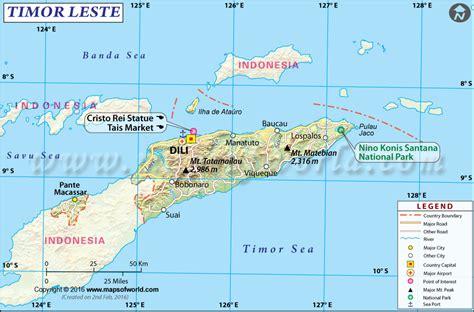 Timor Leste Map (East Timor Map)