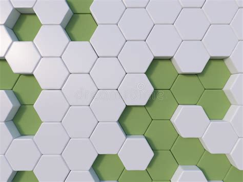 Hexagonal Abstract 3d Background Stock Green Abstract 3d Hexagon Background Bee Hive Stock
