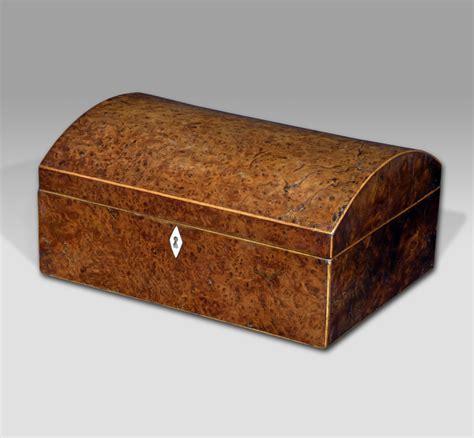Antique jewellery box, yew wood box, domed jewelry box