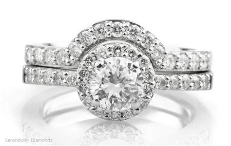 Wedding Bands To Fit Around Engagement Ring by Wedding Rings And The Halo Setting