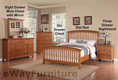 ashland shaker style slat bed bedroom furniture set