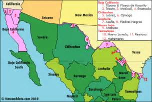 map of us and mexico border towns northern mexican border s new daylight saving plan