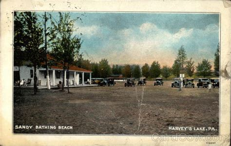 central house beach lake pa sandy bathing beach harveys lake pennsylvania images frompo