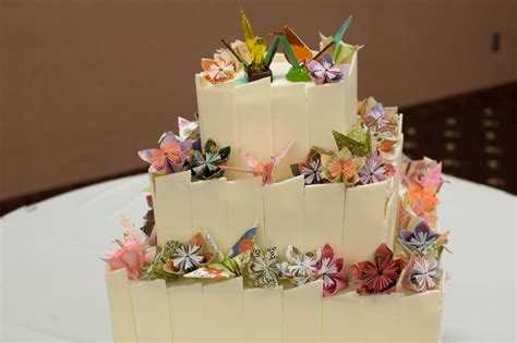 How To Make A Origami Cake - origami wedding cake cakecentral
