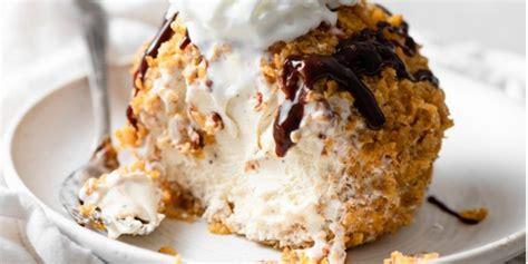 membuat es krim goreng segitiga sederhana rasa