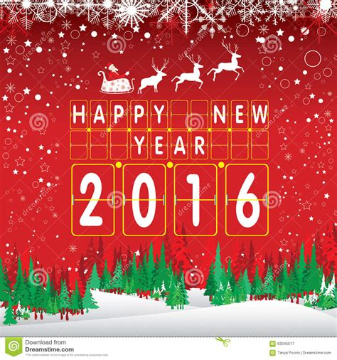 what a happy what a merry tree merry and happy new year 2016 santa claus and