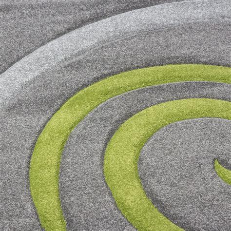 teppich größe moderner designer teppich mit gr 252 ne kreisel in grau