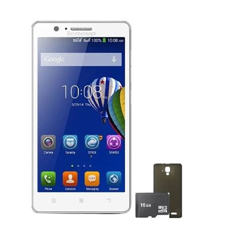 Memory Card Hp Lenovo jual lenovo a536 putih smartphone 8 gb back screen guard memory card harga