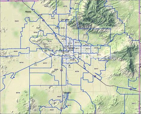 arizona zip code map zip code map tucson my