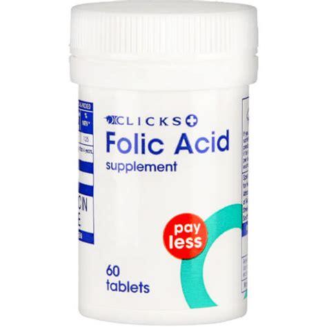 Appeton Essentials Folic Acid clicks pay less folic acid supplement 60 tablets clicks
