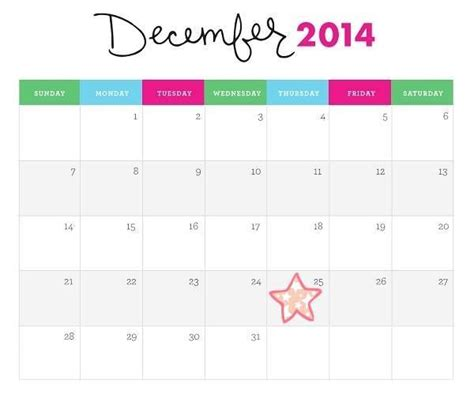 printable decorated december 2014 calendar december 2014 printable christmas calendar countdown
