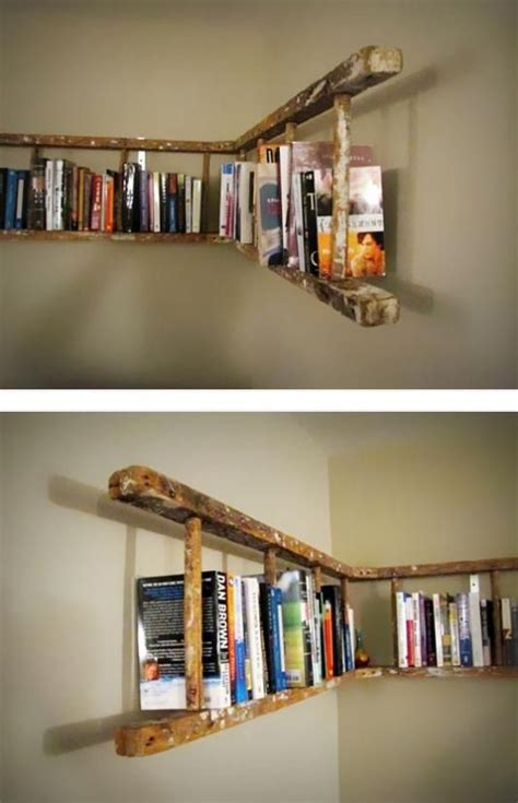 bookshelves ideas 25 awesome diy ideas for bookshelves ladder bookshelf
