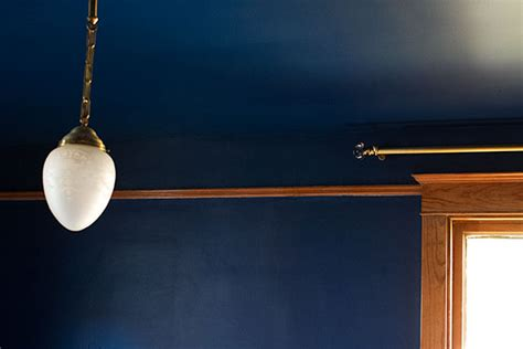 Navy Blue Ceiling by Blue Ceiling Interior Design Ideas