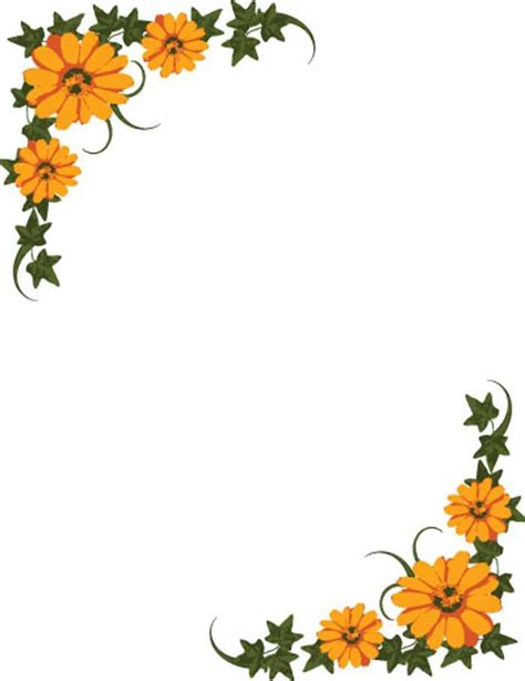 clipart borders marigold clipart border pencil and in color marigold