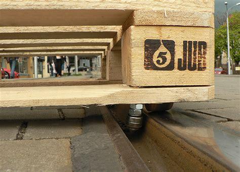 tomas moravec hacks  wooden pallet  glide  tram tracks