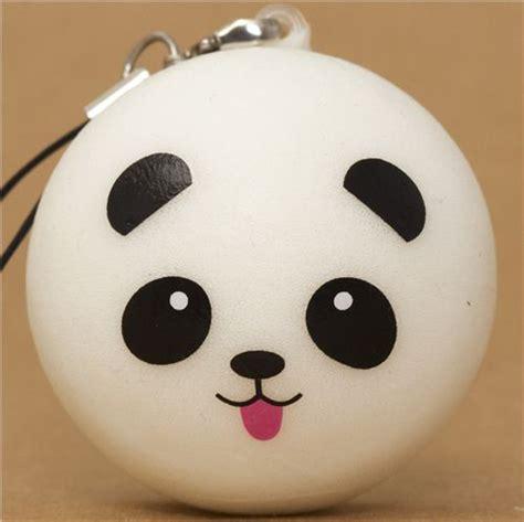 Panda Bun panda with tongue bun squishy cellphone charm kawaii food squishies squishies shop modes4u