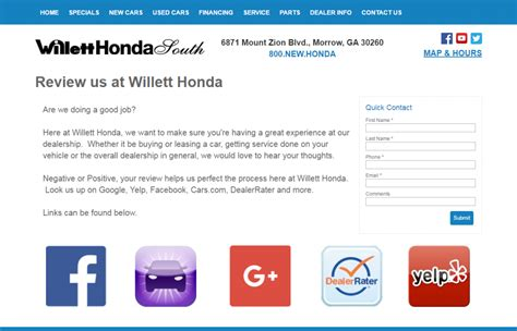 willet honda willett honda south increases reviews by 641