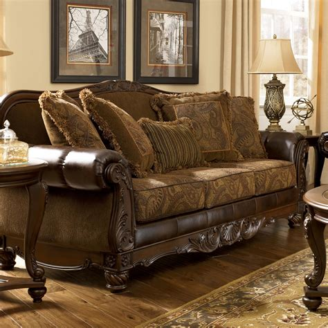 ashley durablend antique sofa ashley signature design fresco durablend antique 6310038