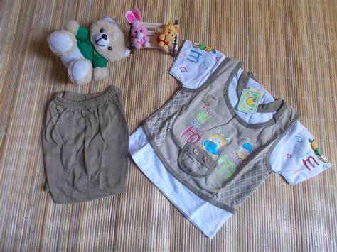 Setelan Baju Bayi 4 setelan baju bayi rompi imut going up cokelat baju bayi celana bayi celana panjang bayi topi