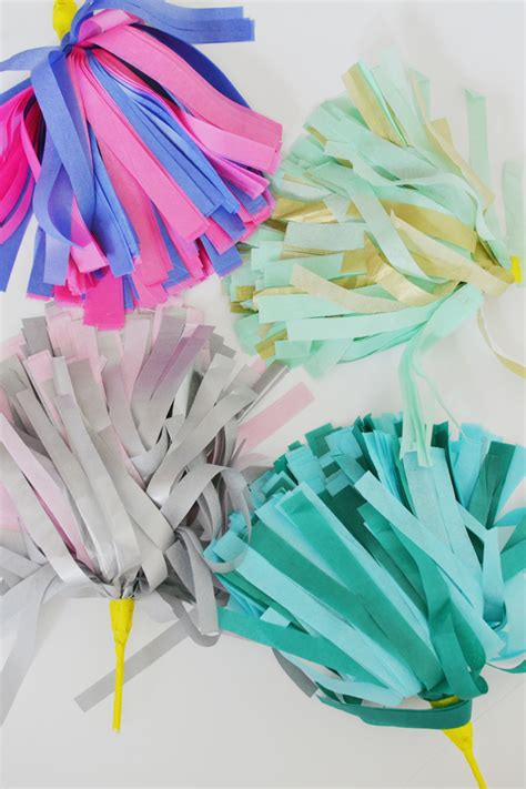How To Make Paper Pom Poms For Cheerleading - c home tissue paper cheer pom poms cakies