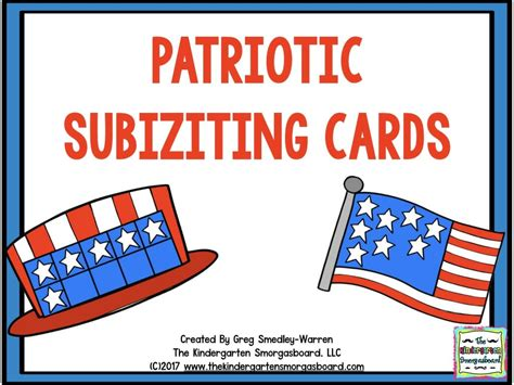 Cards Template Patriotic by Freebies The Kindergarten Smorgasboard