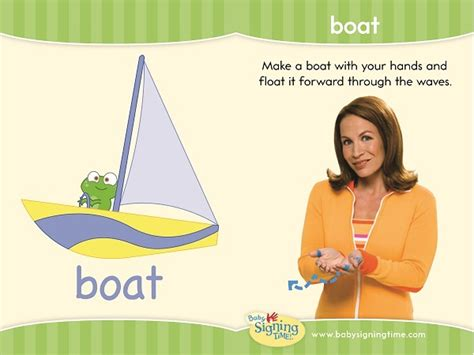 boat in sign language sign of the week boat