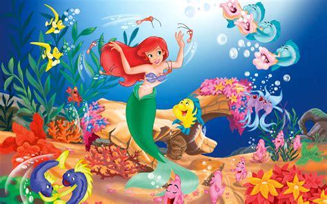wallpaper cartoon desktop little mermaid wallpaper 744023